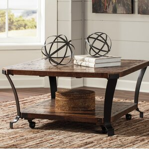 Brook Square Coffee Table With Magazine Rack