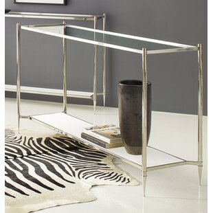 Aria Stainless Steel Console Table by Modern History Home Find
