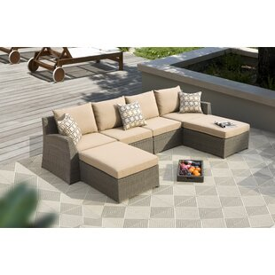 Roberts 6 Piece Sunbrella Sectional Set with Cushions by Bayou Breeze