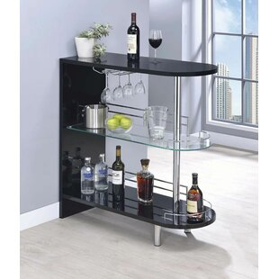 Wrought Studio Mcconkey Bar with Wine Storage