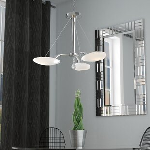 Orren Ellis Shireen 3-Light Sputnik Chandelier