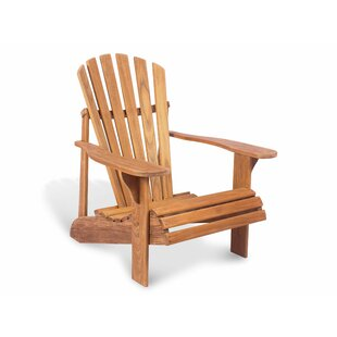 Overton Montauk Teak Adirondack Chair by Rosecliff Heights