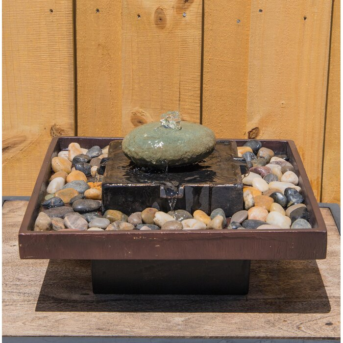 Wildon Home ® Concrete Tranquil Indoor Table Fountain & Reviews ...