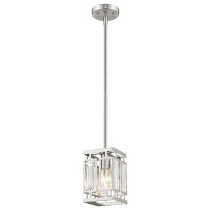 Everly Quinn Vella 1-Light LEDSquare/Rectangle Pendant