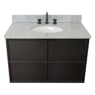 Elkton 37 Wall-Mounted Single Bathroom Vanity Set by Gracie Oaks