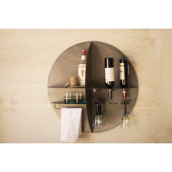 Good 17 Stories Alvaro Round Metal Wall Mounted Wine Bar Cabinet U0026 Reviews |  Wayfair