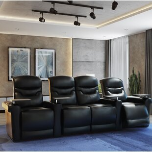 Leather Home Theater Configurable Seating Orren Ellis