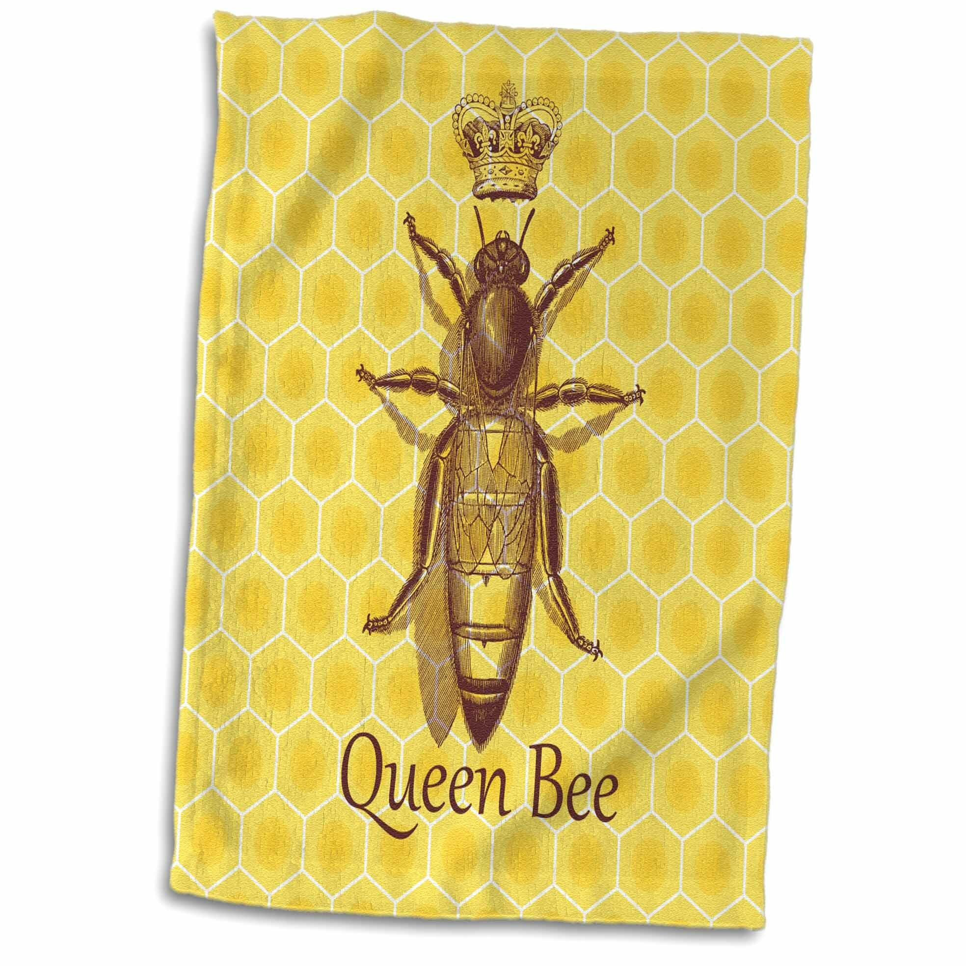 East Urban Home Nickerson Stately Queen Bee With Royal Crown Over Honeycomb Hand Tea Towel Wayfair