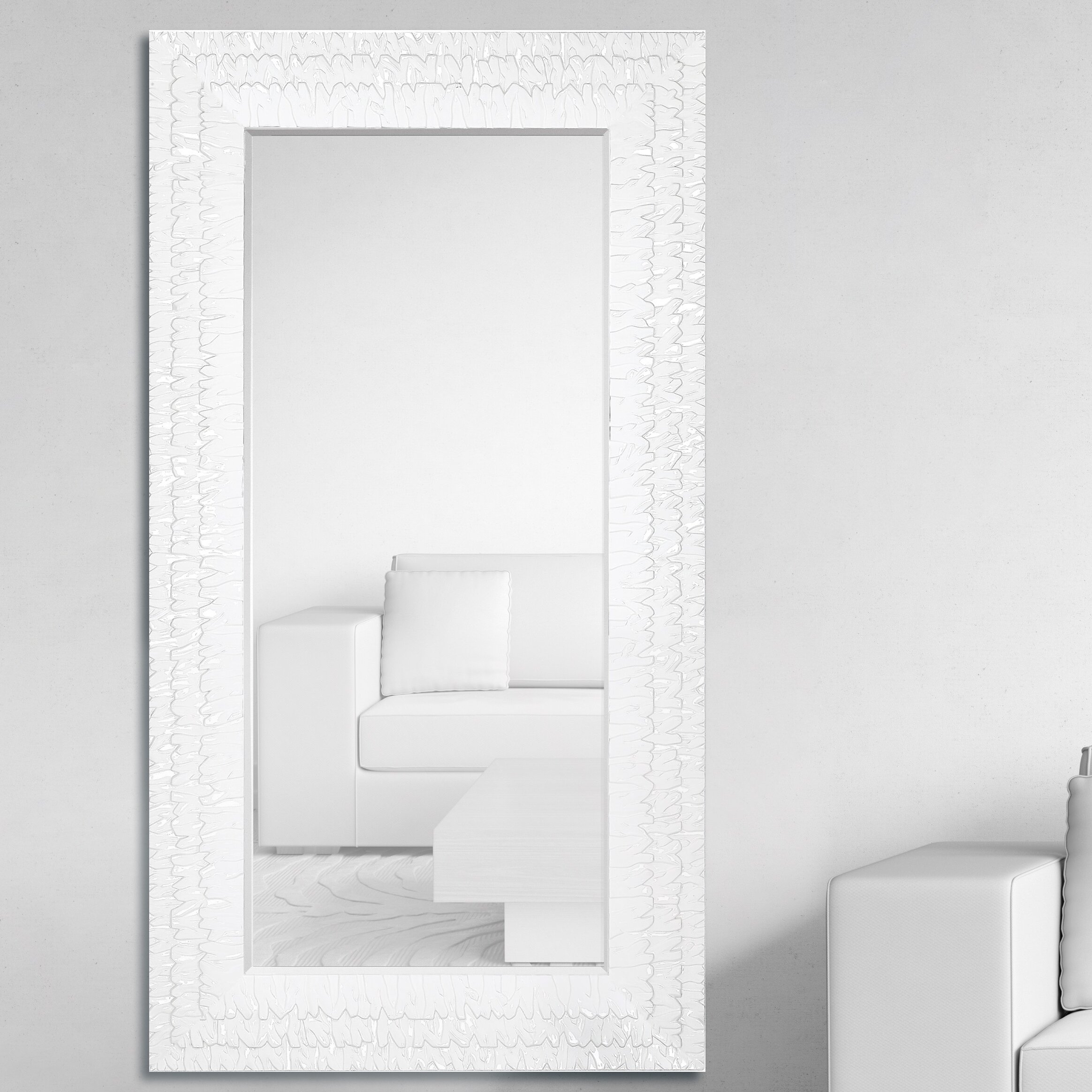 Majestic Mirror Oversized Rectangular Framed Beveled Glass Wall ...