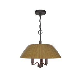 Woodbridge Lighting Sorg Bamboo 3-Light Drum Pendant