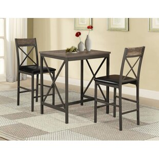Losada 3 Piece Pub Table Set Millwood Pines