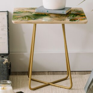 Best Price Iveta Abolina Tropical Square End Table by East Urban Home