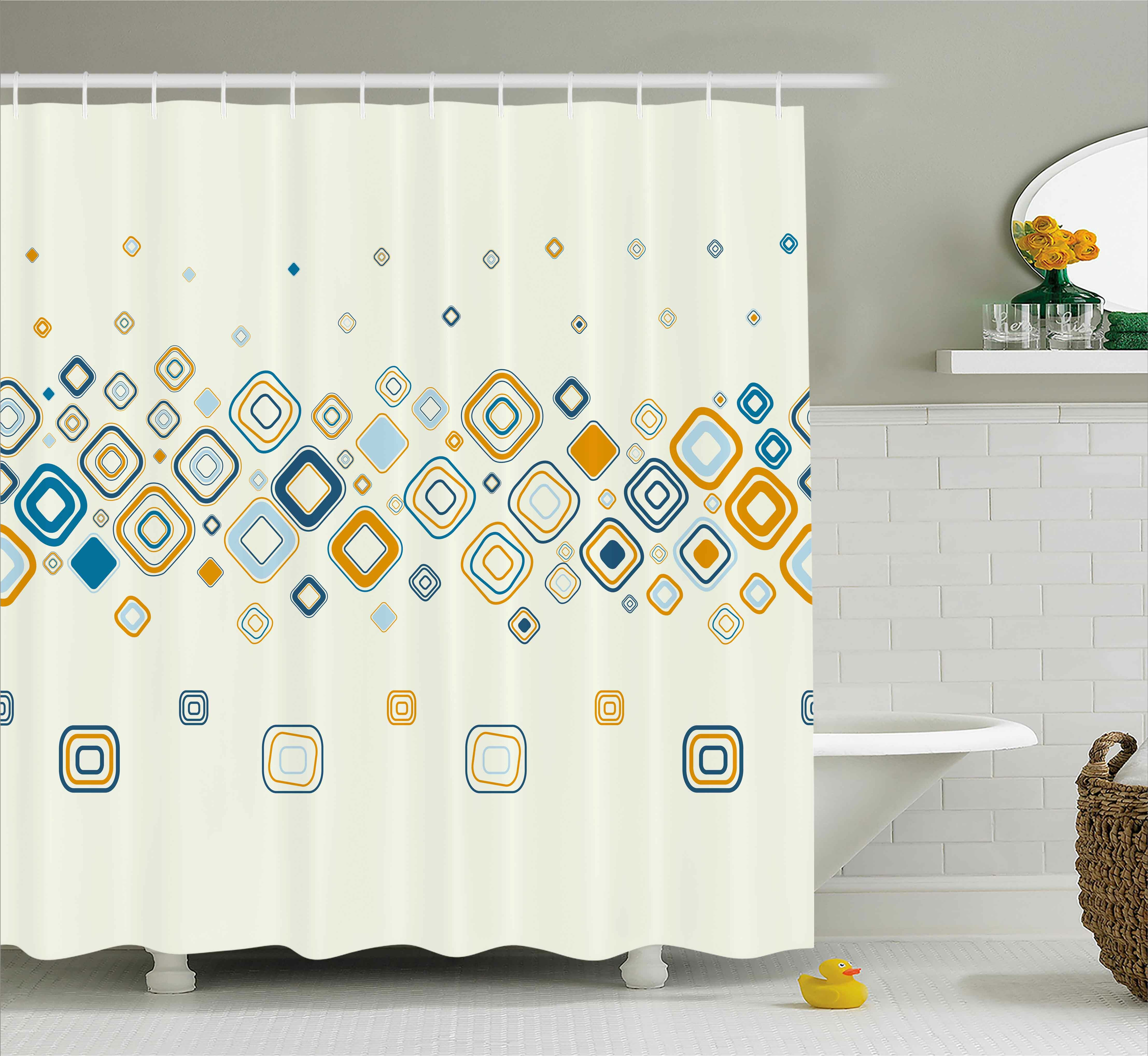 Ebern Designs Addie Modern Vector Illustration Of Stylish Repeating Geometric Shapes Pattern Shower Curtain