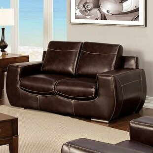 Aine Leather Loveseat