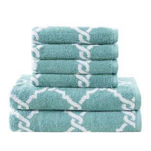 Durant 6 Piece 100% Cotton Towel Set