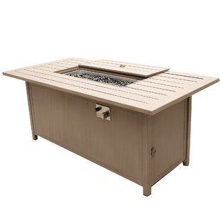 Orren Ellis Otega Outdoor Propane Gas Fire Pit Table