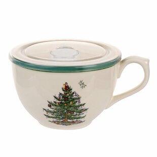 Christmas Tree Jumbo Cup with Lid