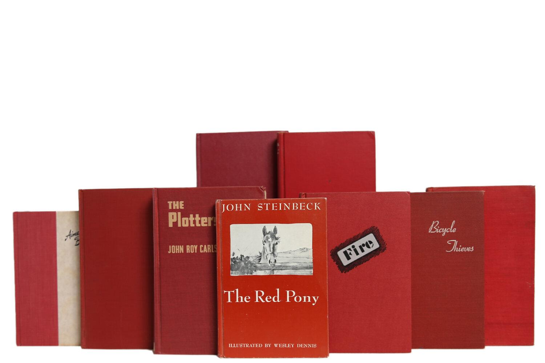Booth Williams 20 Piece Midcentury Garnet Novels Authentic Decorative Book Set Wayfair