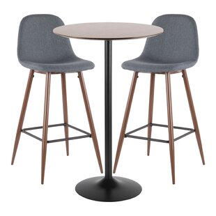 Blaisdell 3 Piece Pub Table Set Latitude Run