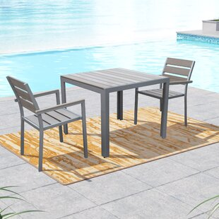 Beachcrest Home Allen 3 Piece Dining Set
