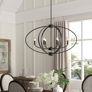 Tensed 6-Light Globe Chandelier
