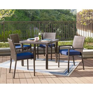 Bassham 5 Piece Dining Set with Cushions by Gracie Oaks