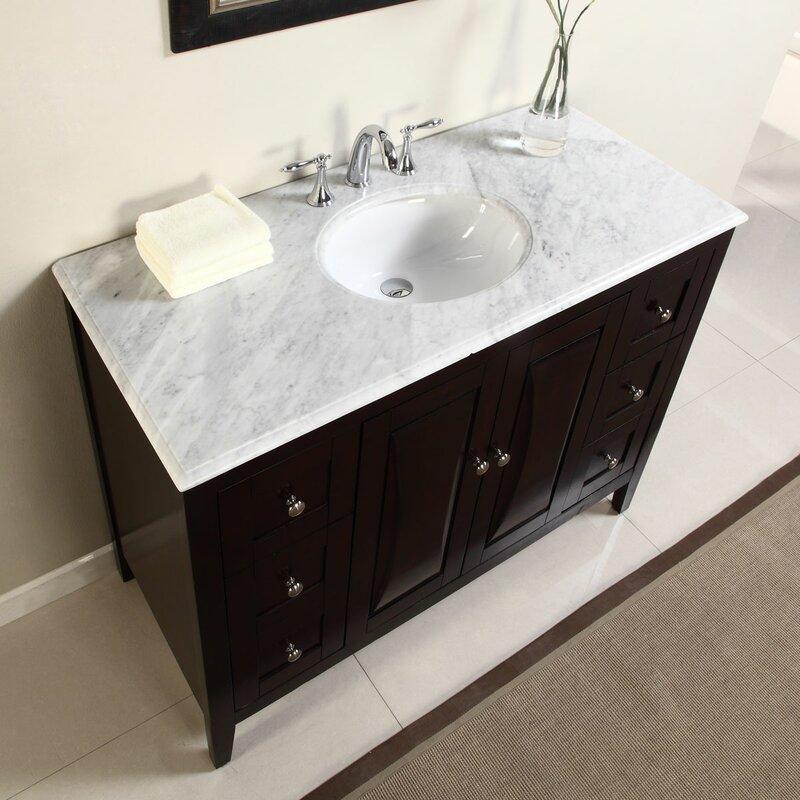 """silkroad exclusive 48"""" single sink cabinet bathroom vanity set"""