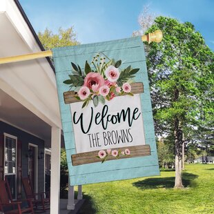 Welcome Home Floral 2-Sided Polyester 3 X 2 Ft. House Flag By Boutique Monogram