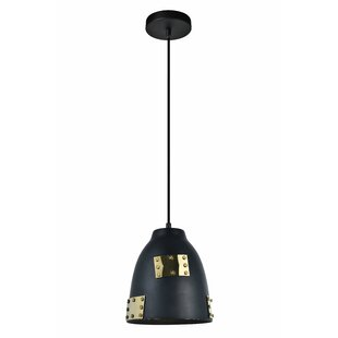 Williston Forge Jazzmyn 1-Light Cone Pend..
