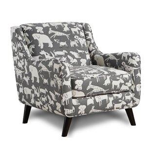 Brayden Studio Biseye Doggie Graphite Armchair