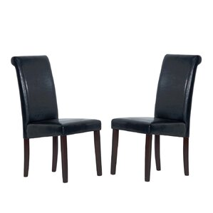 Genuine Leather Upholstered Dining Chair (Set of 4) by Warehouse of Tiffany
