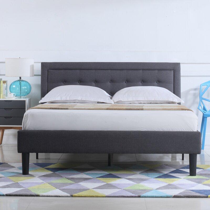 Gibsonburg Low Profile Linen Upholstered Platform Bed