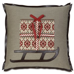 Nordic Holiday Santa's Sleigh Throw Pillow