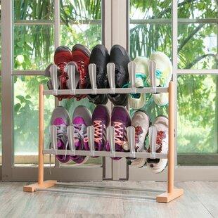 Rebrilliant Modern Pop On 12 Pair Shoe Rack