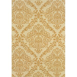 Carriage Hill Ivory Gold Indoor Outdoor Area Rug