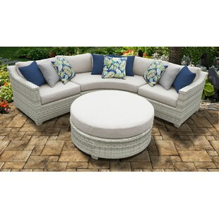 Fairmont 4 Piece Outdoor Sectional Seating Group with Cushions