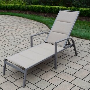 Oakland Living Padded Sling Chaise Lounge