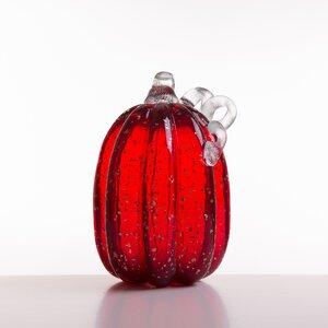 Glittery Glass Pumpkin
