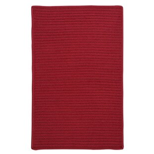 Glasgow Red Indoor/Outdoor Area Rug byCharlton Home