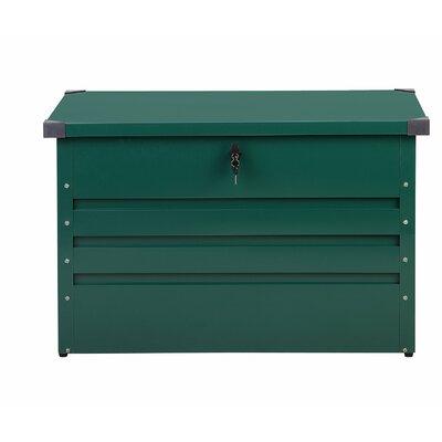 Cebrosa Outdoor 79 Gallon Metal Deck Box Beliani Color: Green