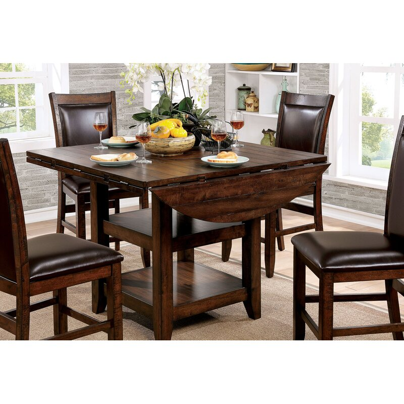 Herbert Counter Height Drop Leaf Dining Table