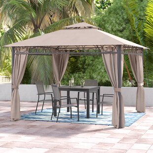 Hartl 10 Ft. W x 10 Ft. D Metal Patio Gazebo by Symple Stuff