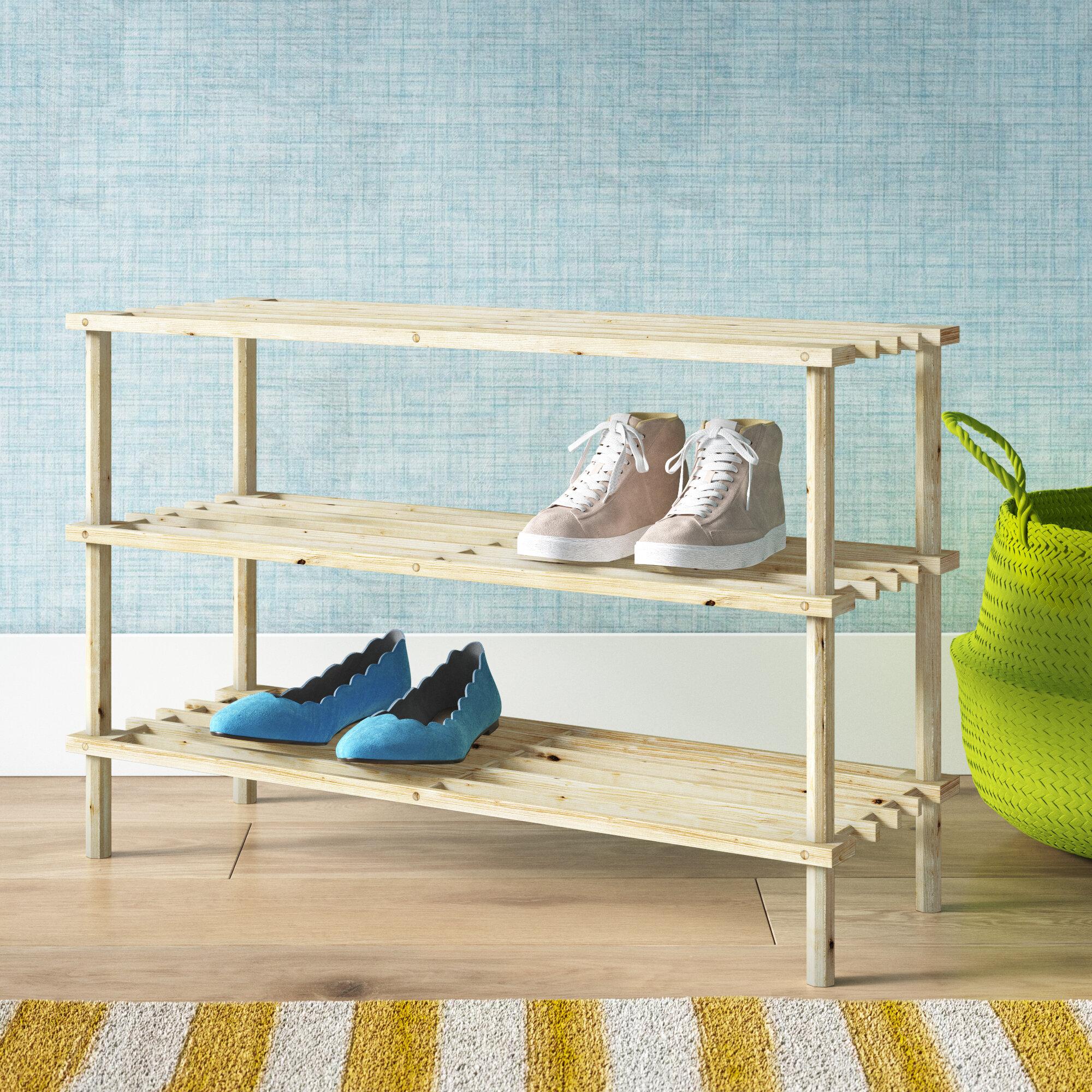 Wayfair Basics 12 Pair Shoe Rack Reviews Wayfair