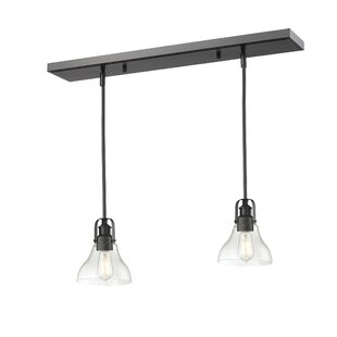 Laurel Foundry Modern Farmhouse Lindley 2-Light Kitchen Island Pendant