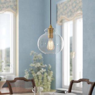 Cerys 1-Light Globe Pendant by Three Posts