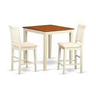 Given 3 Piece Pub Table Set Charlton Home