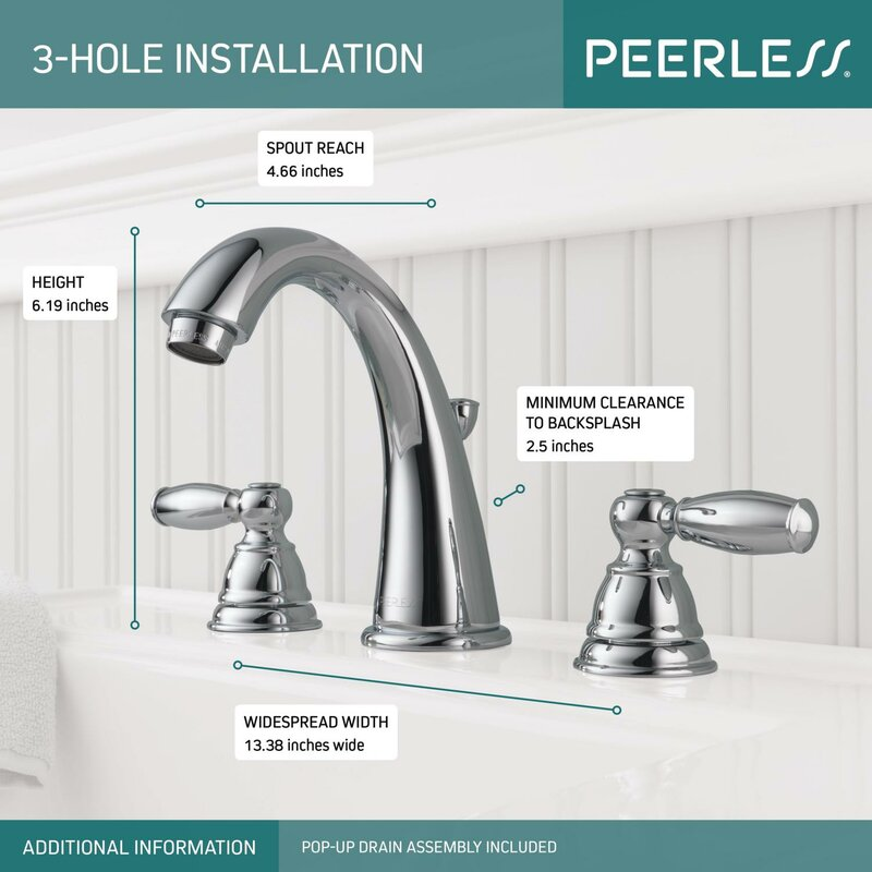 Peerless Faucets Widespread Bathroom Faucet with & Reviews | Wayfair