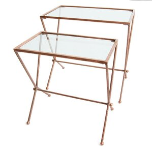 Jasiah 2 Piece Nesting Tables by World..