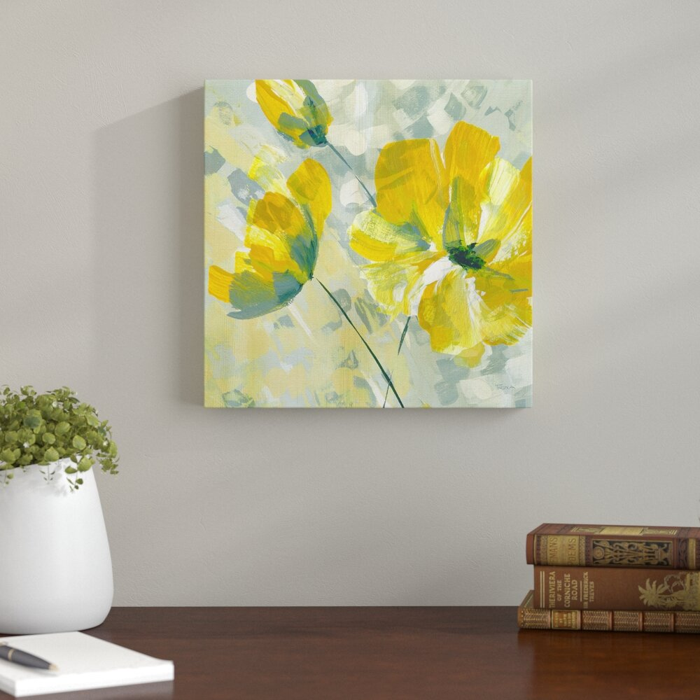 Andover Mills \'Buttercup II\' Painting Print & Reviews | Wayfair