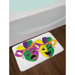 Traditional Multicolor Mardi Gras Bath Rug